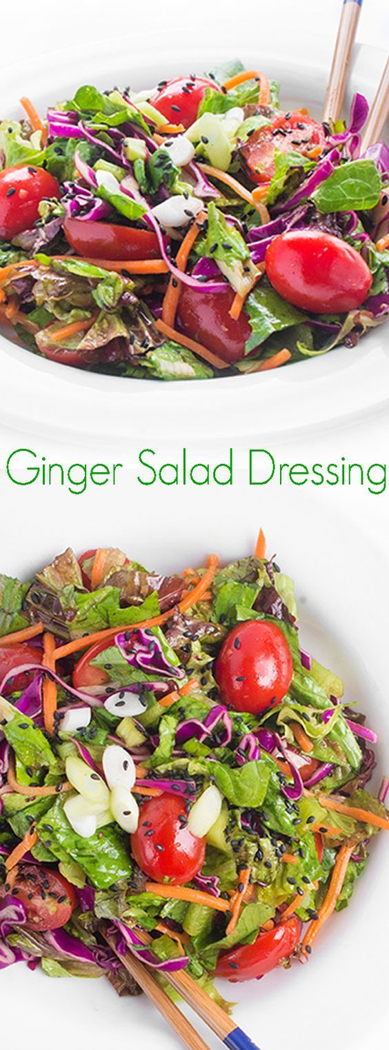 Ginger Salad Dressing - This fresh and flavorful Ginger Salad Dressing recipe is a healthy version of the Japanese steakhouse favorite.