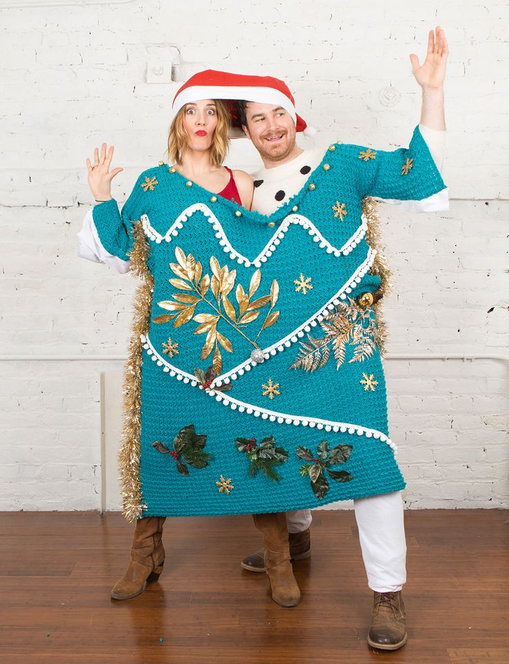 OMG. How amazing is this two-person Christmas sweater?
