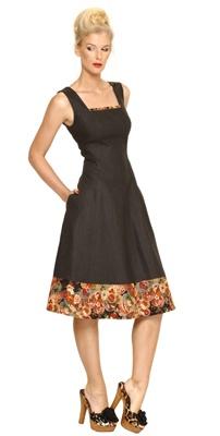 Maiocchi dress with japanese fabric trim