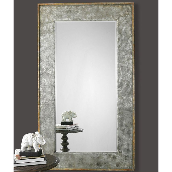 Uttermost Leron Distressed Bronze Mirror - 44W x 74H in. | from hayneedle.com