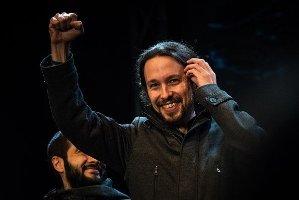 Pablo Iglesias, the leader of Podemos. Spain's very modern revolution. A predominantly two party system being beaten by a new party 'Reform without break; change, but not revolution.'