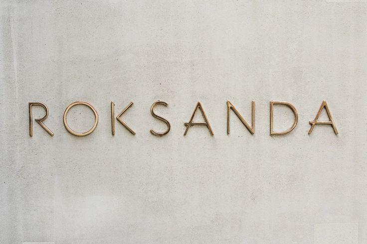 Roksanda Gold Signage on Concrete