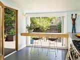 View of kitchen through rear door - modern - kitchen - portland - by Ogawa Fisher Architects