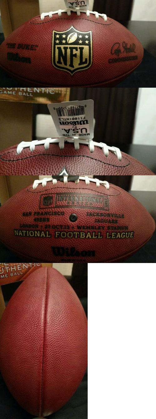 Footballs 21220: Wilson Nfl The Duke International Series 49Ers Vs. Jaguars Game Football -> BUY IT NOW ONLY: $75.0 on eBay!