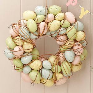 Pastel Easter Egg Wreath - easter home