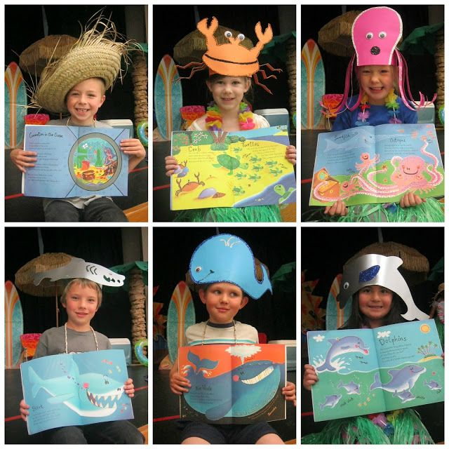Hats for the characters in Commotion in the Ocean