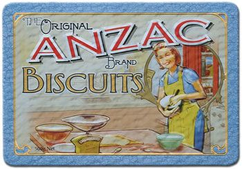 ANZAC biscuits can only legally be called as such if they follow the traditional recipes. So here they are.. from the Australian War Memorial.    http://www.awm.gov.au/encyclopedia/anzac/biscuit/recipe/