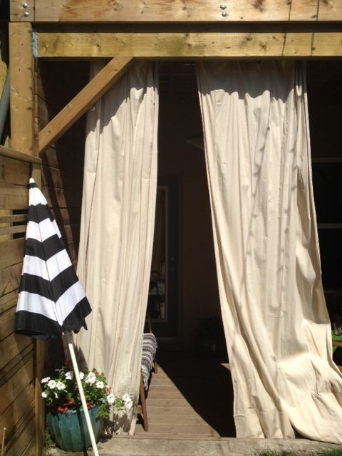 1000 Ideas About Outdoor Drapes On Pinterest Deck