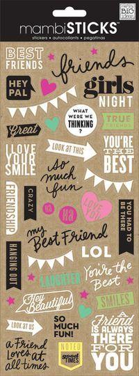 Doodle Words- Best Friends
