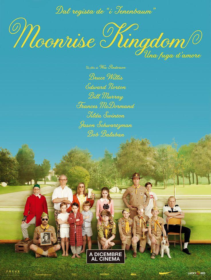 Moonrise Kingdom - Una fuga d'amore, la locandina italiana. Al cinema dal 5 dicembre