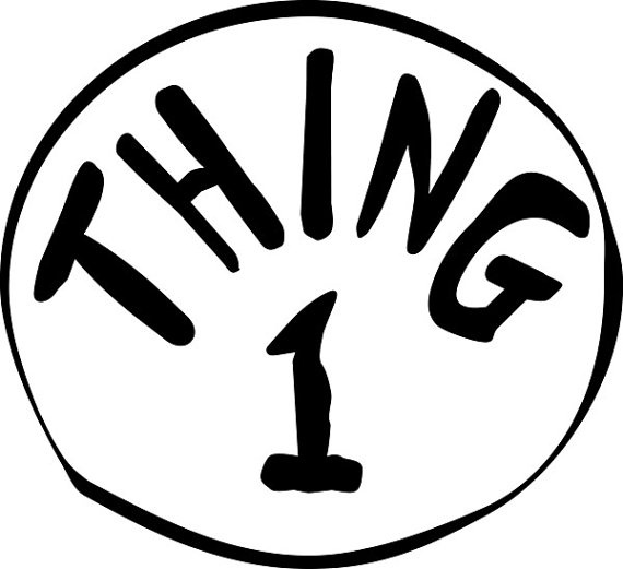 Sweet image pertaining to thing 1 and thing 2 logo printable