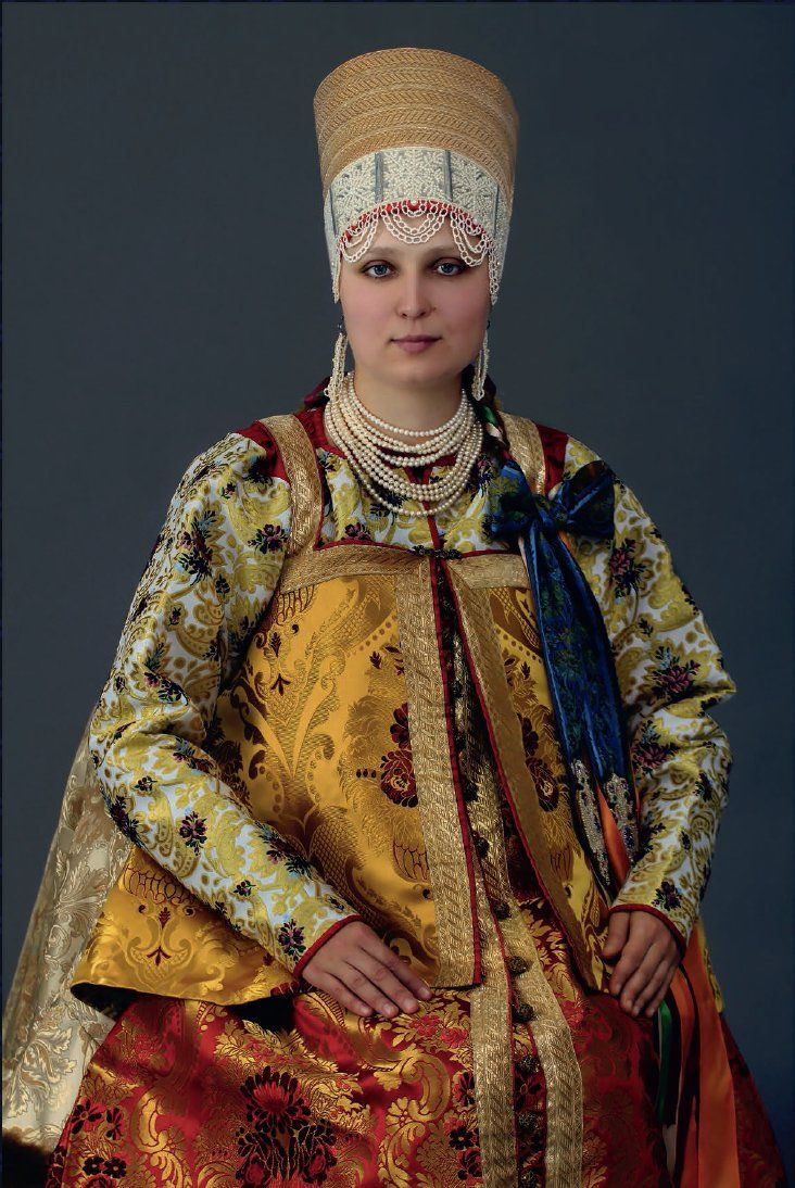The girl in the festive costume of the Mezen district of the Arkhangelsk province, XIX century