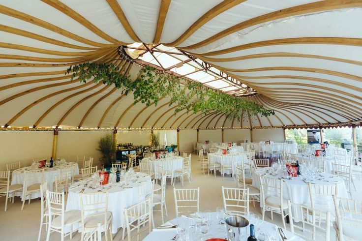 Within one of our Mini Orangery tents.