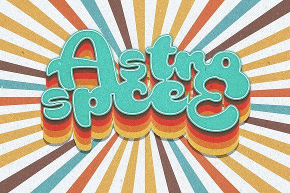 70s Text Effects For Photoshop Layer Styles Adobe Photoshop