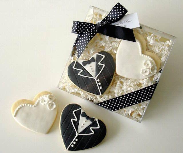 galletas como los recién casados: recuerdos para boda