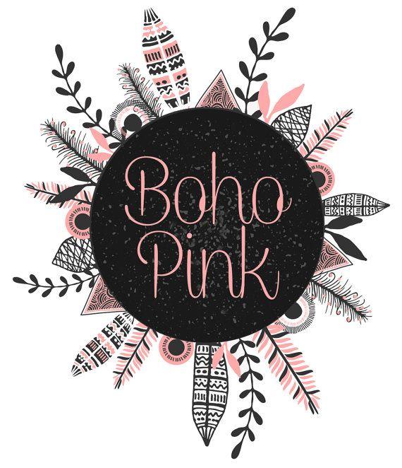 Boho Pinkl Logo Gypsy Logo Premade Logo by GypsySoulDesignShop