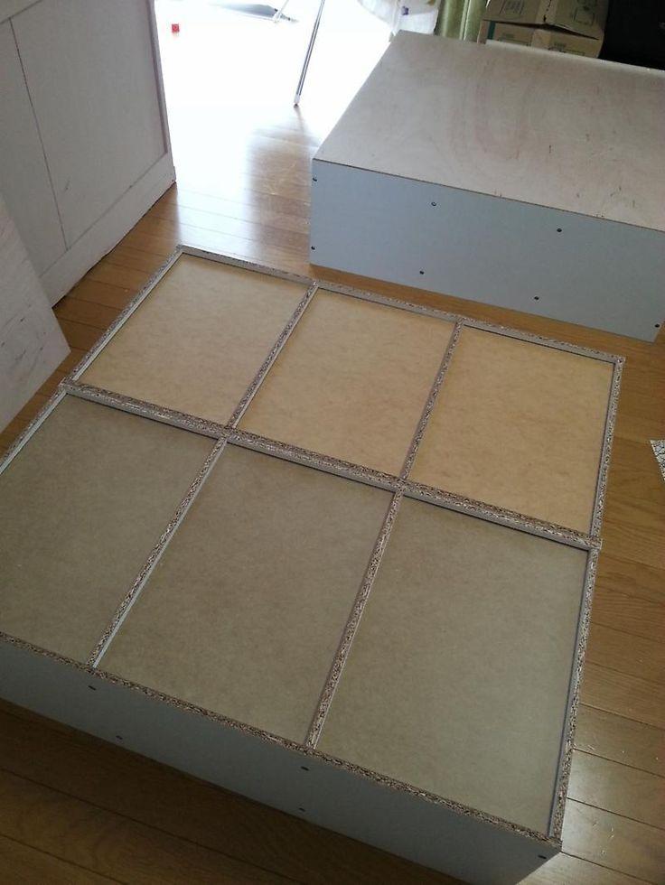 DIY タイル貼りキッチンカウンターをカラーボックスで作る①|*chocotea *