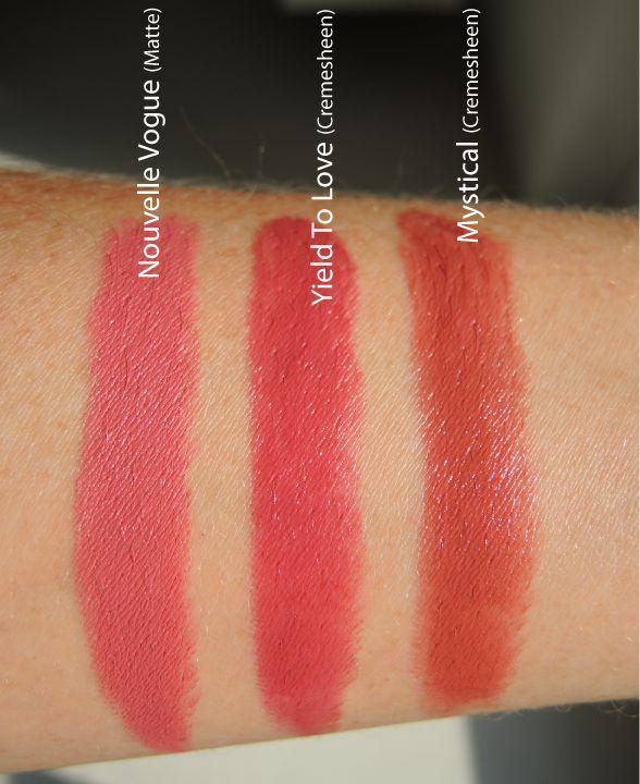 "mac yield to love lipstick | Szminki MAC ""Pander Me"" i ""Nouvelle Vogue"" – porównanie z ..."