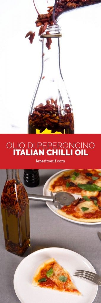 Olio di peperoncino or chilli oil is a cinch to make, just follow these very simple instructions. Add dried chilli to oil.