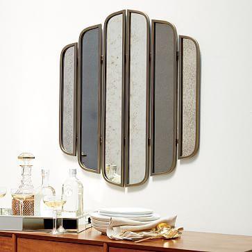 Linear Mirror Wall Art #westelm