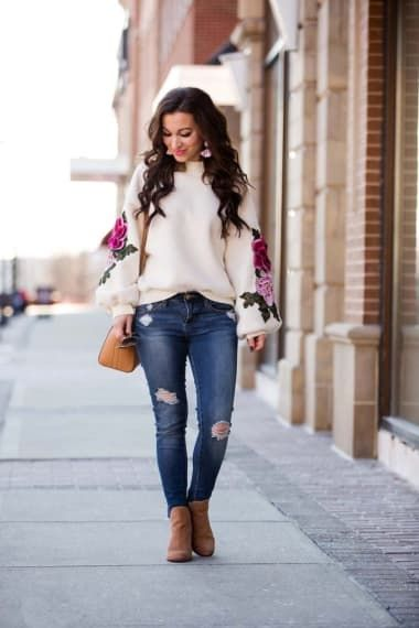 Fall Outfit from lipglossandlabels with Gucci Sunglasses, GUESS Sweaters, Givenchy Tote Bags, Articles of Society Jeans, Jessica Simpson Boots
