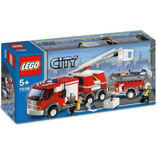 Lego City Le Camion des Pompiers - Achat / Vente assemblage construction Lego Camion Pompiers - 7239 - Cdiscount