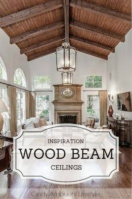 Gorgeous wood beam ceilings in this post! Tons of design ideas