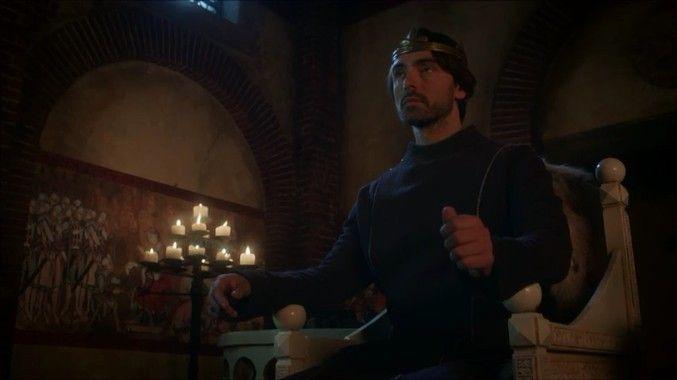 David Dawson as King Alfred in The Last Kingdom season 2episode 1