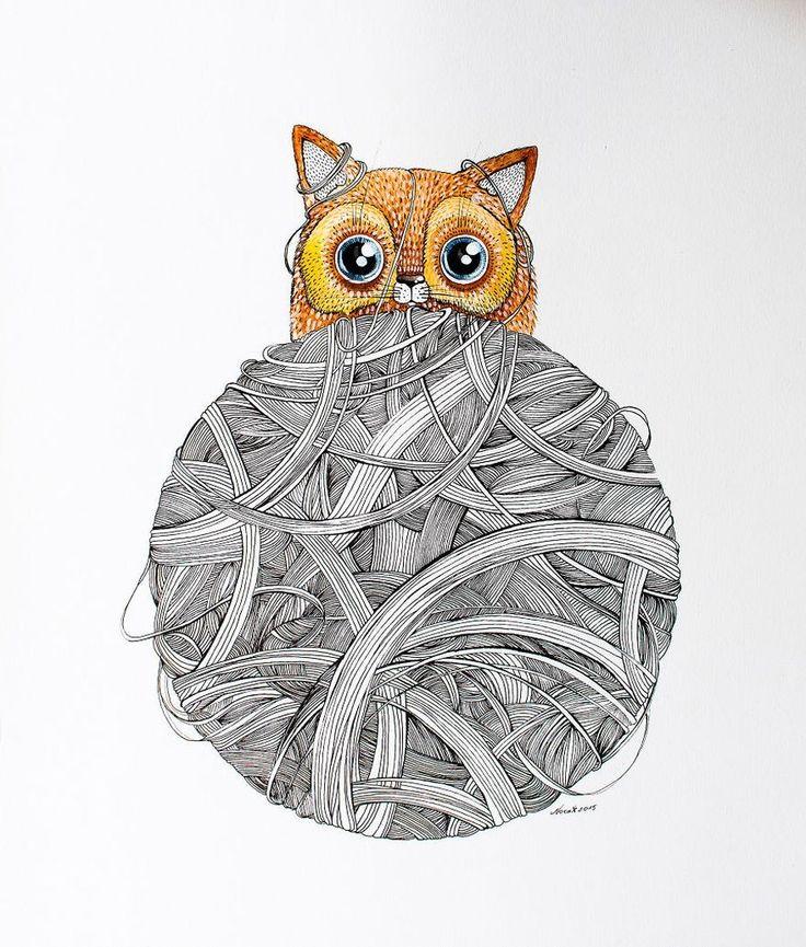 Художница под никнеймом Nora регулярно выкладывает в сеть акварельные картинки, на которых нарисованы котики. Как говорит сама художница, ее вдохновляют кошачьи…