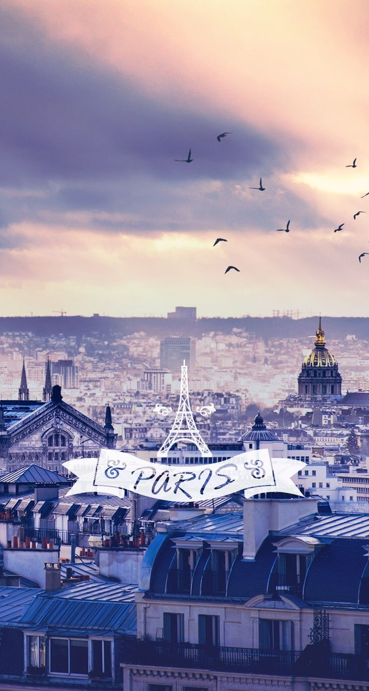 Paris iPhone wallpaper. Typography quotes and beautiful landscape iPhone wallpapers. #PrayForParis @mobile9