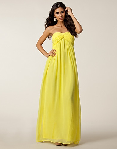 Elan international maxi halter dress in yellow