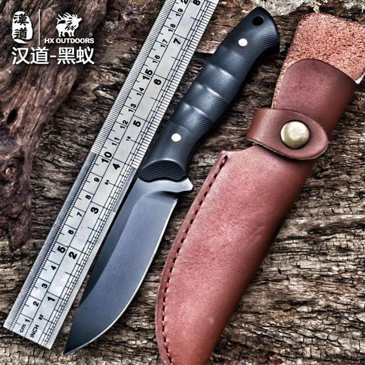 HX OUTDOORS Black ant D2 steel tactical high hardness straight knife self-defense wild survival knife cutting tool outdoor knife
