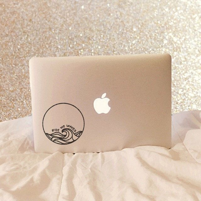 Ride The Waves - Vinyl Decal - Laptop Decal - Car Decal - Macbook Decal - Laptop Sticker - Surfer Decal - Surf Decal - Beach Decal by moonandstarco on Etsy https://www.etsy.com/listing/254187323/ride-the-waves-vinyl-decal-laptop-decal