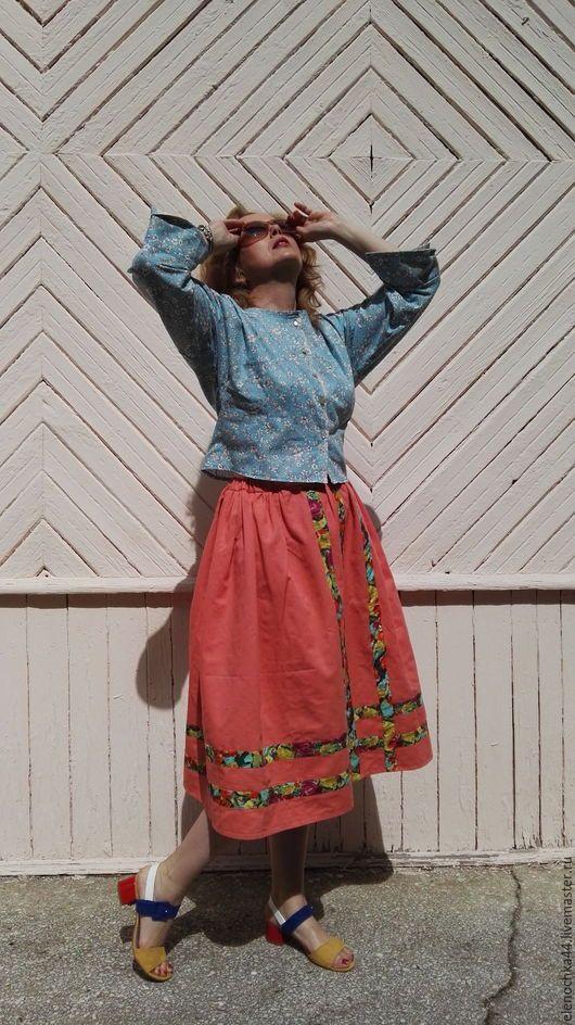 """Костюмы ручной работы. Ярмарка Мастеров - ручная работа. Купить Блузка  """"Яркое лето"""" 1. Handmade. Однотонный, длинная юбка"""
