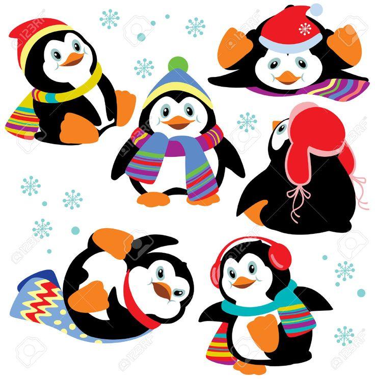 Resultado de imagen para pinguinos navideños caricatura