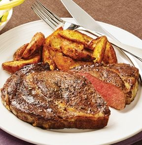 Boneless Rib Steak - Excellent marbling loads this steak with flavour and marvelous texture. Sold Individually