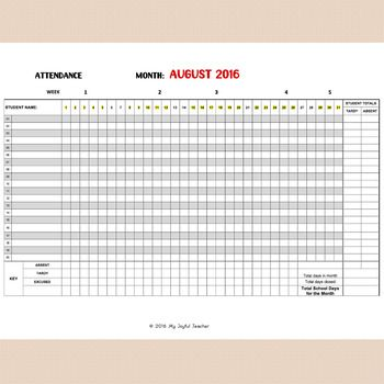 Best 25+ Attendance sheets ideas on Pinterest Teacher lesson - attendance sign in sheet