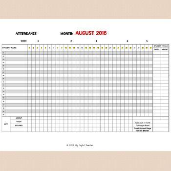 Best 25+ Attendance Sheets Ideas On Pinterest Teacher Lesson   Attendance  Sheet Template