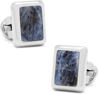 Ox and Bull Trading Co. Silver And Sodalite Jfk Presidential Cufflinks.