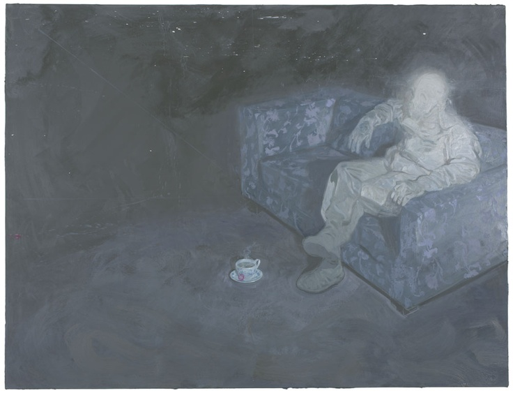 Ruprecht von Kaufmann. No Panik, 2009. Oil and wax on canvas.