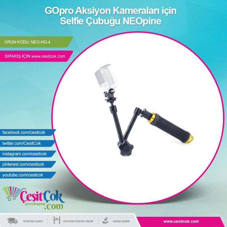 #GOpro #Aksiyon Kameraları için #Selfie Çubuğu #NEOpine >> http://goo.gl/qZz7tG