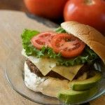 Taco Burger with Chipotle Cream Sauce--perfect balance of subtle heat & cooling sour cream.