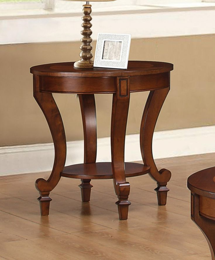Coaster 704407 End Table in Warm Brown Finish