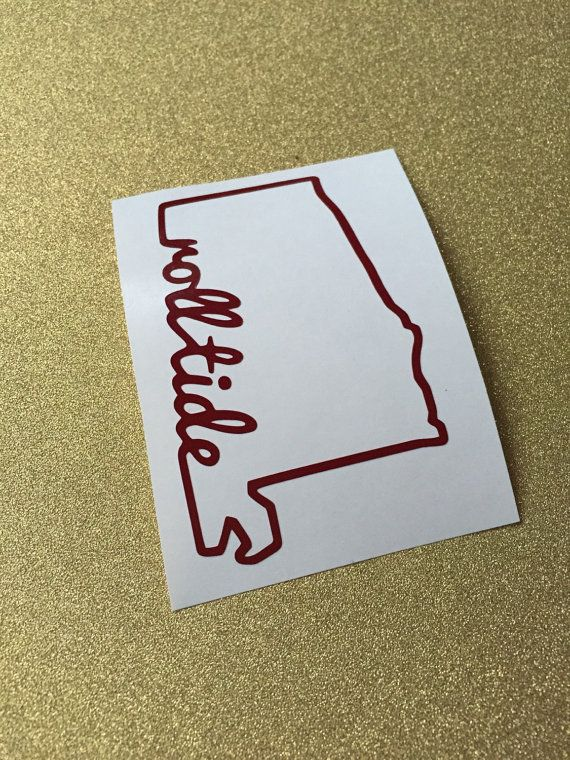 This listing is for ONE Roll Tide University of Alabama Vinyl Decal. This is the perfect addition to any Bama fans car, laptop, tailgate cup, etc.