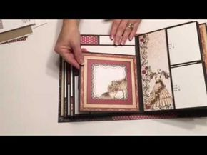 This mini album from Kathy King will be the album I will teach in Jan 2017. At the ScrapbookCottage in Wpg MB Canada. This is a beautifully constructed album...