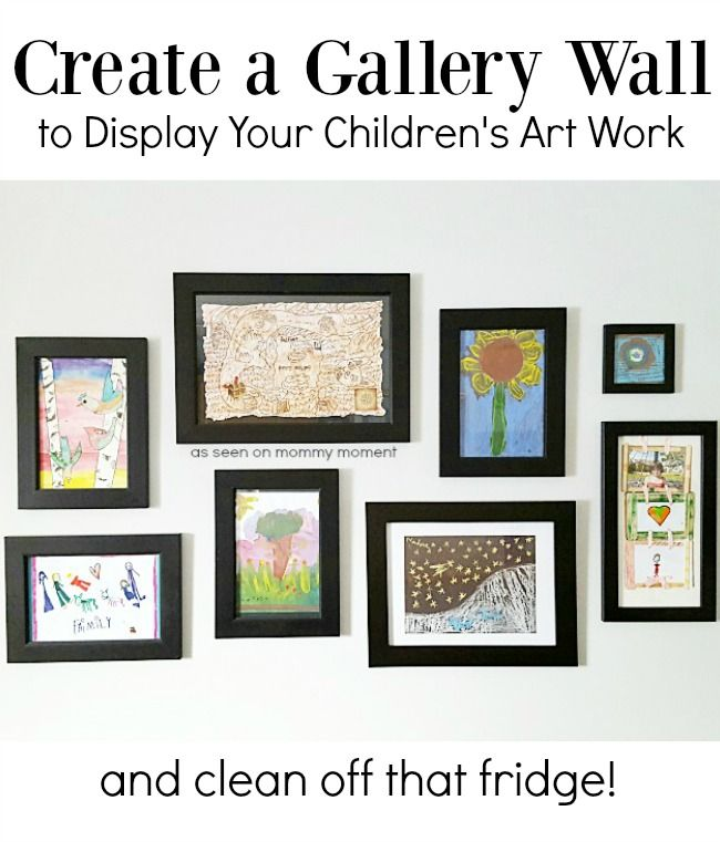 Create a Gallery Wall to Display Your Children's Art Work