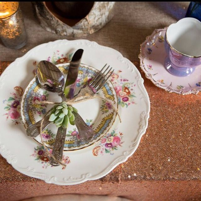 Our beautiful vintage China being used for a photo shoot