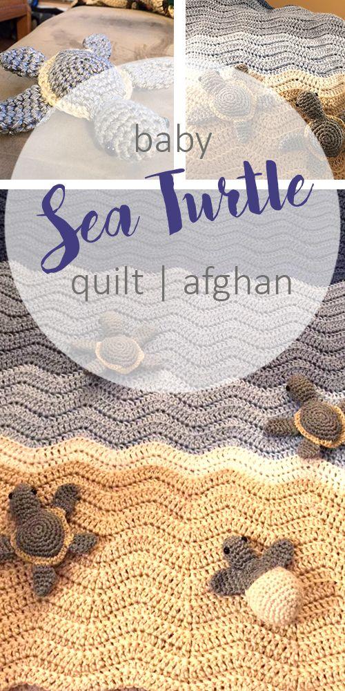 Sea-Turtle-Crocheted-Baby-Blanket-Afghan - Pattern- Sweet & Simple Mag