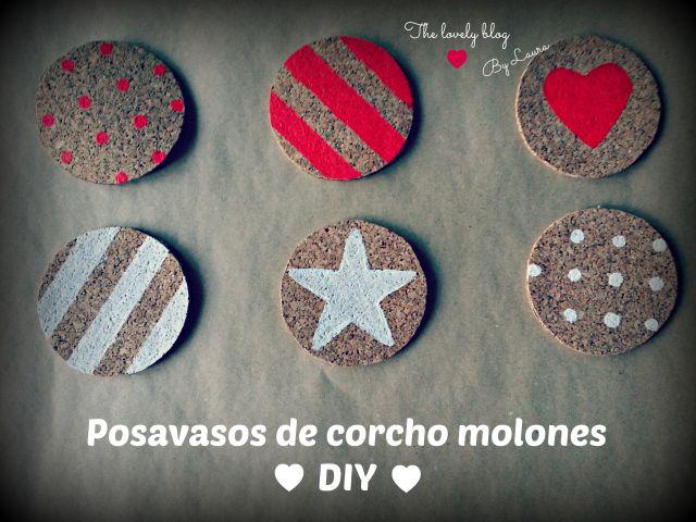 Posavasos de corcho - cork coaster DIY