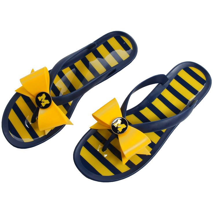 Michigan Wolverines Lillybee U Women's Flip-Flop with Bow - $47.99